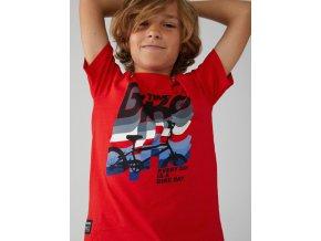 boboli červené chlapecké tričko Bike kolo