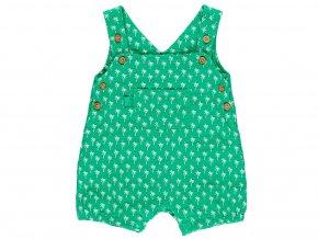 Kojenecké šortky s laclem Palmy zelené