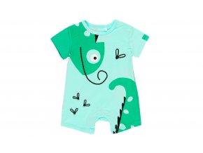 1492844492 a Kojenecký letní overal letní zelený chlapeček Chameleon zvířátko Boboli
