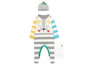 1291251100 a Kojenecký dárkový set Čumáček pletený overal s čepičkou pro miminko dárek k narozeninám