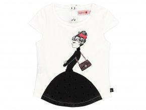 7297501100 a Dívčí elegantní tričko Dáma v černém