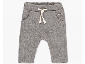 <p>Bavlněné dětské kalhoty z pleteniny a jemnou podšívkou, velmi příjemné a měkké na dotek. Velmi zajímavý jemně síťovaný vzorek šedivé s béžovou. Unisex</p>