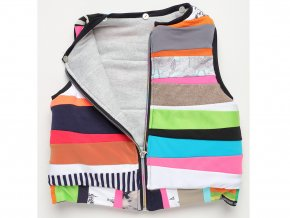 Dětská barevná vesta Art design Patchwork