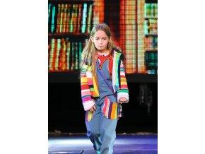 Dětské lacláčky barevné patchwork modré džíny Art design 69870790