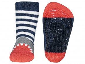 Dětské termo ponožky s protiskluzem žralok