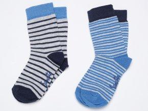 Kojenecké ponožky modro bílá