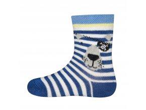 Kojenecké ponožky modrý Vlk pirát