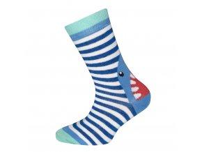 Chlapecké ponožky žralok Marína modrobílé