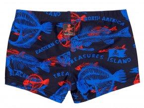 Chlapecké plavky speedo modré zajímavé tmavé print teenage Boboli Klučičí plavky modré a