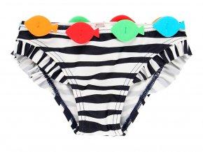 Kojenecké plavky kalhotky Rybičky pruhované s taštičkou