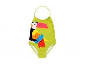 Dívčí plavky Papoušek s taštičkou