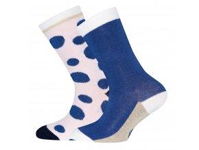 Dívčí ponožky královské puntíky