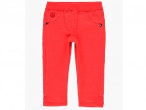 Teplé dívčí džegíny kalhoty strčové tepláky červené Boboli 2980543637 a