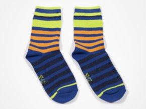 Dětské ponožky Svítivé proužky (Velikost EU 39-42)