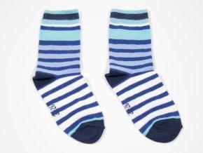 Dětské ponožky Modré proužky modrobíle pruhované kluk (Velikost EU 39-42)