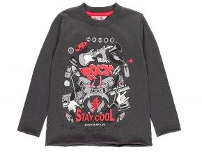 5310548116 a chlapecké tričko dlouhý rukáv antracit Heavy Rock