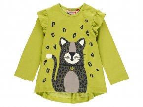 2110154520 a dívčí tričko divoká kočka zelené