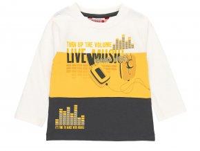 Chlapecké tričko s dlouhým rukávem Live music