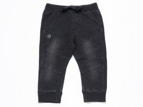 Chlapecké tepláky Jeans černé washout Boboli jeans styl pro klukaK 10401