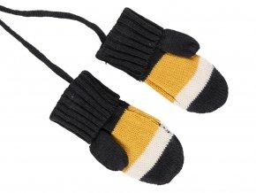 Chlapecké pletené rukavice Music žluté
