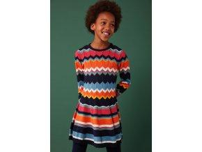 Pletené dívčí šaty barevné Boboli