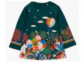Barevné šaty pro holčičku tmavě zelené veselý obrázek Boboli2080884489 b