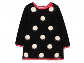 Dívčí pletené šaty beruška elegantní puntíky Boboli