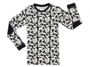 770973 Jacky pyžamo kluk holka snowboard černobílé cool bio bavlna top