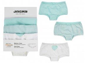 Dívčí kalhotky holka Tyrkys Francouzské 5 ks Jacky