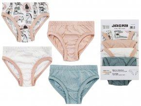 Dívčí kalhotky bio bavlna JackyZvířátka růžové 4 ks růžové barevné