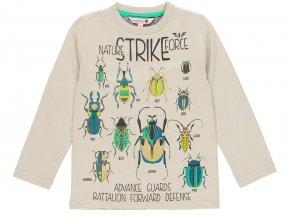Khaki tričko kluk s dlouhým rukávem moderní záplaty v loktech barevné brouk brouci metal Boboli 5110297370 a