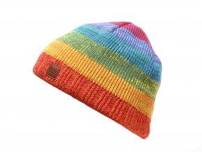 Dětská pletená čepice Duha K 10636