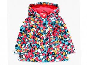 <p>Zateplená nepromokavá dětská bunda střední délky s fleecovou podšívkou, velmi příjemnou na dotek. Záda jsou lehce skládaného střihu. Kontrastní potisk pestrobarevných květů.</p>