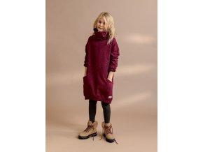 AW20 2914 mikinové šaty holka vínové bordó Ebbe švédské
