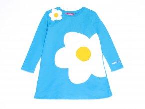 Dívčí šaty modré Bogotá květinka7VE3385