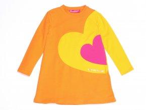 Dívčí šaty oranžové Bogotá srdíčka7VE3387
