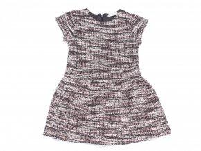 Dívčí pletené Melírované šaty Retro vzor K 13031