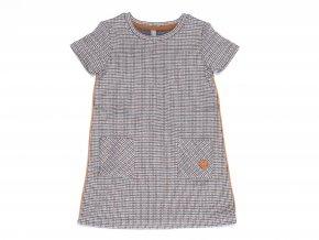 Dívčí pletené šaty Čokoláda světlehnědé K 13033