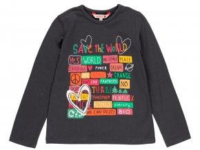 Dívčí tričko s dlouhým rukávem tmavé Eco4111078116 a