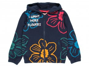 Dívčí mikina s duhovými květy modrá4311432440 a