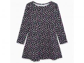Dívčí šaty černé s barevnými květy11290480