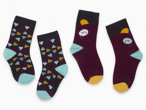 Chlapecké ponožky barevné Trojůhelníčky (2 páry)11290317