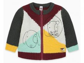 Dětský svetr na zip Pejsek barevný 11290276