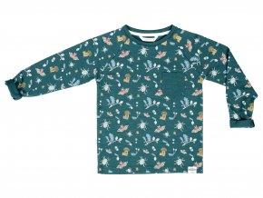 Dětské zelené tričko Lesní příběh zelené Organic101822 0604 f