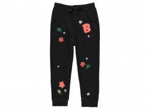 Holčičí tepláky černé s květy412119890 a