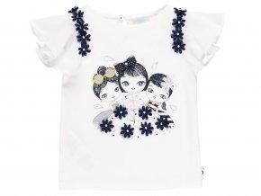 Holčičí bílé tričko s volánky7022121100 a