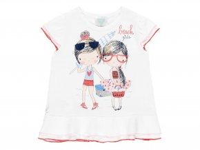 Holčičí letní tričko s volánky bílé2121281100 a