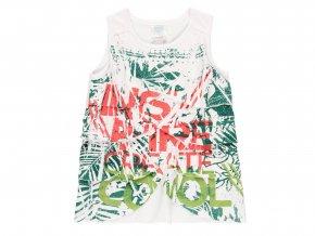 Holčičí letní tričko bílé s listy4121081100 a