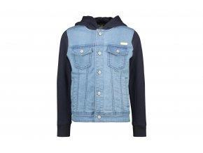 Klučičí džínska s mikinou Džínová vesta s mikinou s kapucí kluk modrá černá mikina BNOSY Y012 6102 107