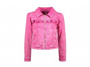 Holčičí džíska ružová strečová bunda holka lehká růžová džínová bunda BNOSY Y102 5311 209